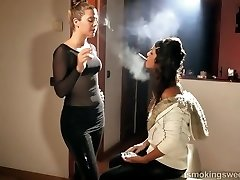 LADIES SMOKING SLOW MOTION