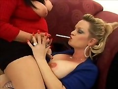 Busty Lesbos Smoking VS 120s
