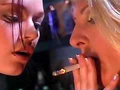 Smoking fetish girls having fun