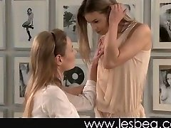 Lesbian virgin likes fit assets of older woman