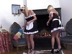 Swedish maids decide to have a girl-girl 3some