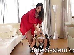 Hostess seduced the maid
