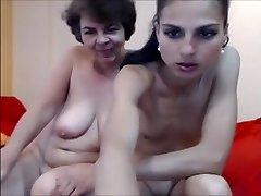 Girl-girl granny webcam