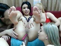 Four Lesbians On Webcam