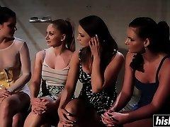 Horny lesbians love pleasuring each other