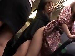 Lesbos grope cutie in bus (3)