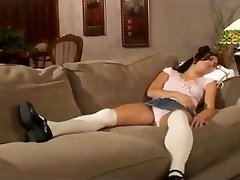 Super-hot milf and the babysitter have sex