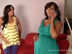 I Can't Believe I Knocked Up Two Sluts Two - Adrianna Luna & Leilani Leeanee