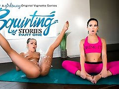 Adriana Chechik & Megan Rain in Squirting Stories: Part One - GirlsWay