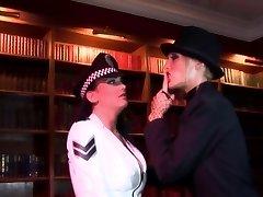 Radny bitch shovels a stick in policewoman's butthole