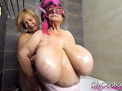 two grannies with huge mammories