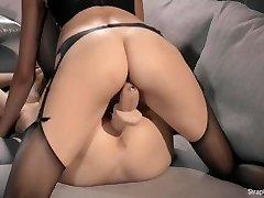 Hot Brunnette Mia Belt Cock Porks Redhead Maria