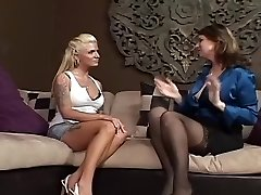 Astonishing Lesbian Mature & Milf xxx scene
