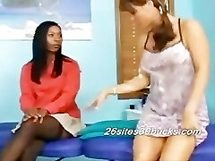 Katrina and Adesina Lesbian Rubdown