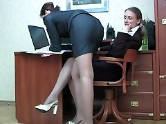 Lady boss seduces the secretary