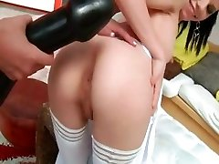 Extreme brutal sextoy in their anuses