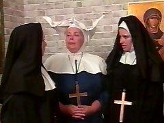 Kinky lesbian nuns S&M style