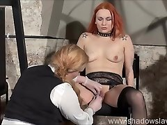 Lesbo play piercing torment and extreme amateur bdsm