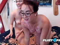 Food Fetish Cake Sex with Taming Trixie and Lacey Linsi
