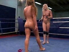 Lesbian Naked Wrestling Competition Part I
