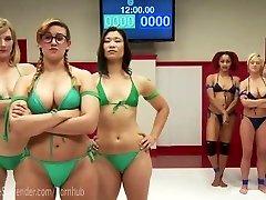 Erotic Sapphic Wrestling Gangbang