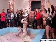 2 hot femmes are wrestling in the mud for the enjoyment of others