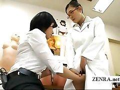 Unusual Japanese doctor vaginal masturbation research