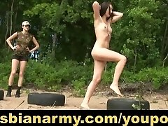 Military lesbian instructing