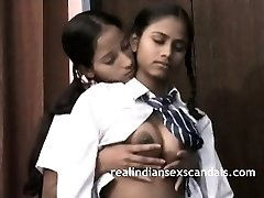 Indian School Chicks Filmed By Teacher In Lesbian Fuck-fest