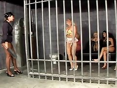 Girl-on-girl stroking session in prison