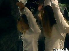 Betrayed Students Tied Up By Lesbian Domina