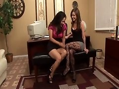 Lesbian Boss Jessica Bangkok Luvs Secretarys Pantyhose
