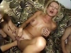 Seious going knuckle deep by three mature lesbos