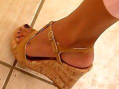 consummate legs and feet weedge heels