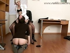 RuthlessMistress.com - Office worker was seduced to be a gimp