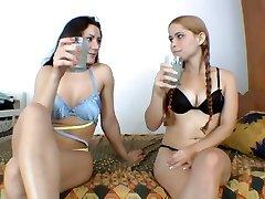 Lesbian urinate domination Trio