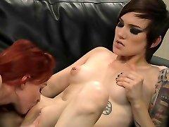 redhead and goth lesbian