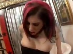 Redhead punk girl plumbs girlfriends ass