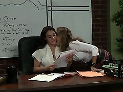 Professor and her college girl after lesson