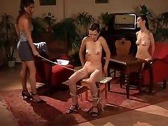 Kinky tarts enjoying BONDAGE & DISCIPLINE caning and spanking