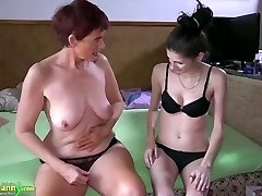 Compilation of granny and teenage lesbian activity