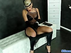 Femdom gloryhole pleasure with blondes and dong