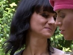 Busty mom and nubile lesbian best friends now