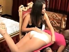 Sinful Lesbo Strapon Spanking