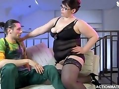 chunky housewife ravages in lingerie