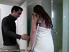 SweetSinner Sonnie Helps Mom out of Bathroom