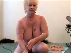 Two Grannies - One Sybian - Grandmother squirts