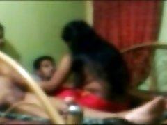 Desi friends screwing a gal threesome
