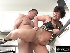 German milf eat plumber pecker