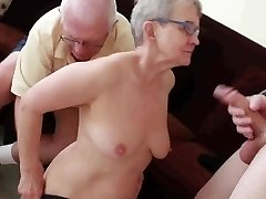 Elderly husband screwed with young fellow